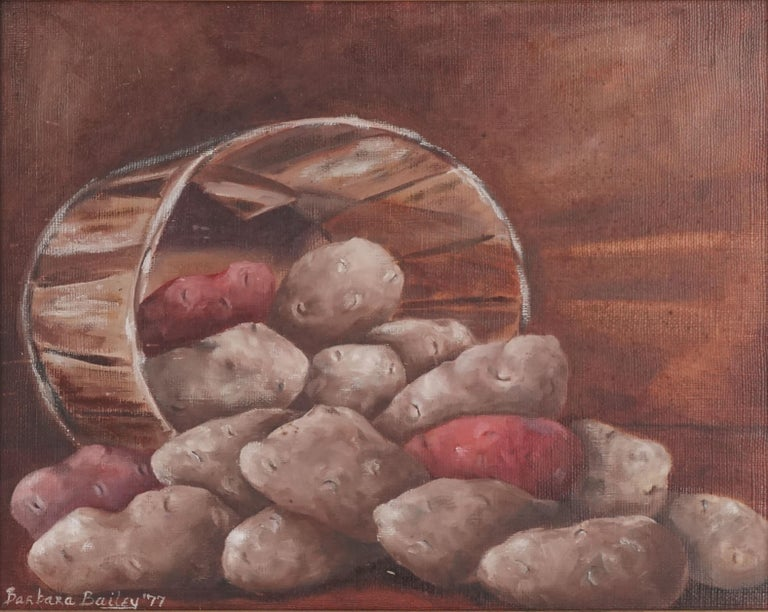 Idaho Potato Still Life - Painting by Barbara Arnold Bailey