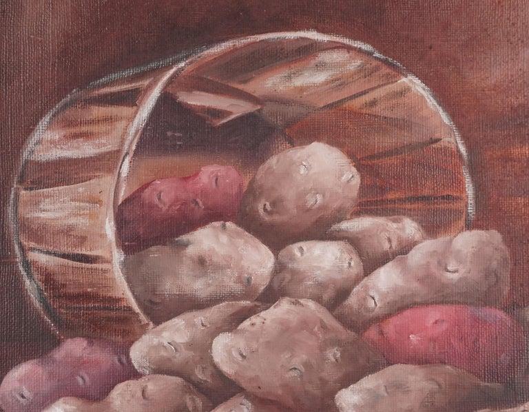 Idaho Potato Still Life - American Impressionist Painting by Barbara Arnold Bailey
