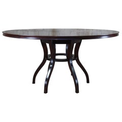Barbara Barry Baker Furniture Neoclassical Round Pedestal Dining Table