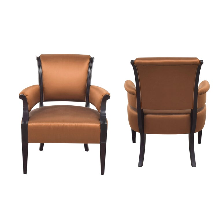 Barbara Barry for Baker Furniture armchair, Raw Sienna. Listing is for one. 2 available.