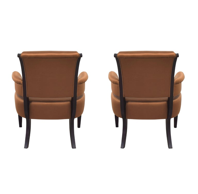 20th Century Barbara Barry for Baker Furniture Armchair, Raw Sienna