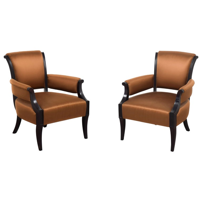 Barbara Barry for Baker Furniture Armchair, Raw Sienna