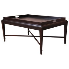 Barbara Barry for Baker Furniture Dark Mahogany Coffee Table, Newly Refinished