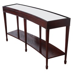 Barbara Barry for Baker Furniture Dark Mahogany Curved Console or Sofa Table