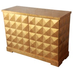 Barbara Barry for Baker Furniture Diamond Gold Leaf Cabinet or Credenza