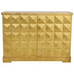 Barbara Barry for Baker Furniture Gilt Limited Edition Two-Door Cabinet Cupboard
