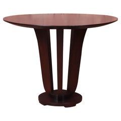 Barbara Barry for Baker Furniture Modern Art Deco Mahogany Pedestal Center Table