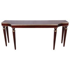 Barbara Barry for Baker Mahogany and Gold Gilt Console or Sofa Table, Restored