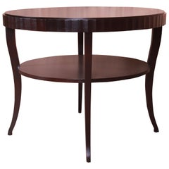Barbara Barry for Baker Mahogany Two-Tier Center Table, Newly Refinished