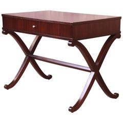 Barbara Barry for Baker Mahogany Writing Desk or Console, Newly Refinished