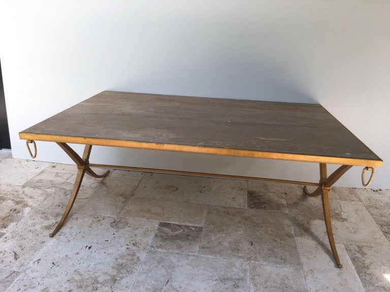 French Deco design by award winning designer, Barbara Barry. Excellent craftsmanship and weight to this table.