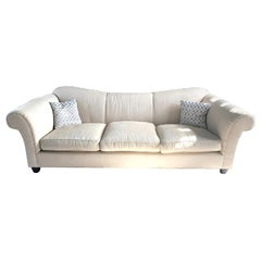 Barbara Barry for Baker Rounded Arm Modern Sofa Curved-Back Down-Cushioned 2016