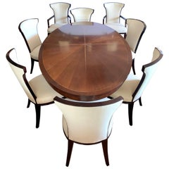 Barbara Barry for Henredon Celestial Dining Room Nine-Piece Set Table 8 Chairs