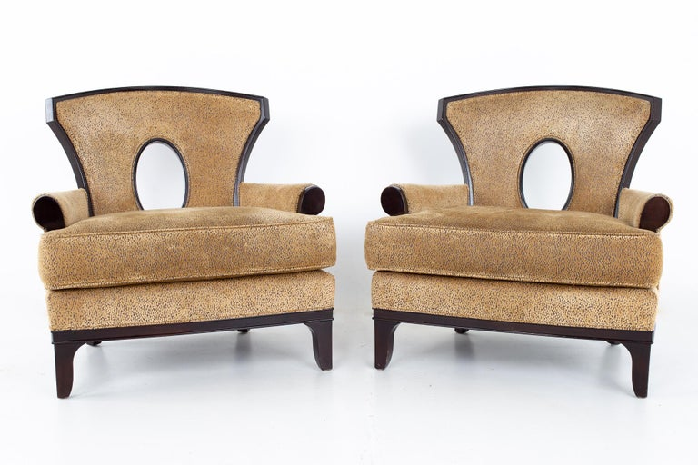 American Barbara Barry for Henredon Modern Lounge Chair, a Pair For Sale