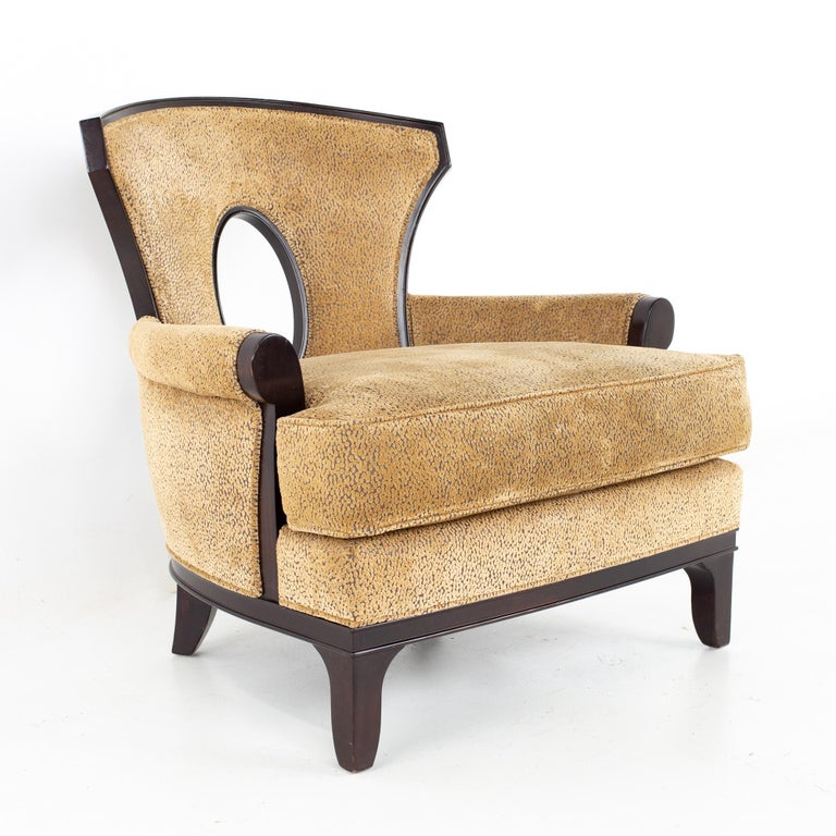 Barbara Barry for Henredon Modern Lounge Chair, a Pair In Good Condition For Sale In La Grange, IL