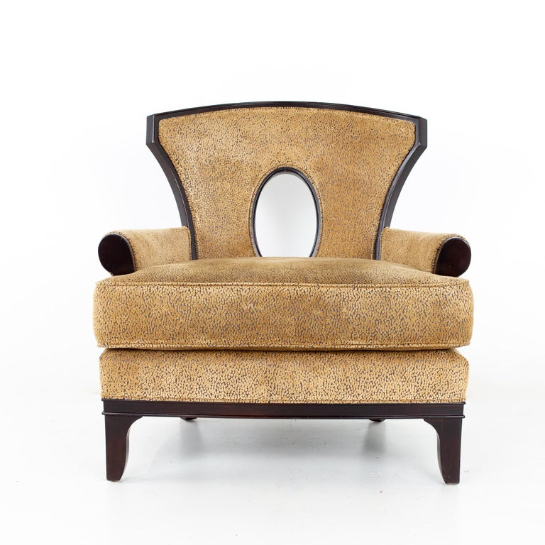Upholstery Barbara Barry for Henredon Modern Lounge Chair, a Pair For Sale