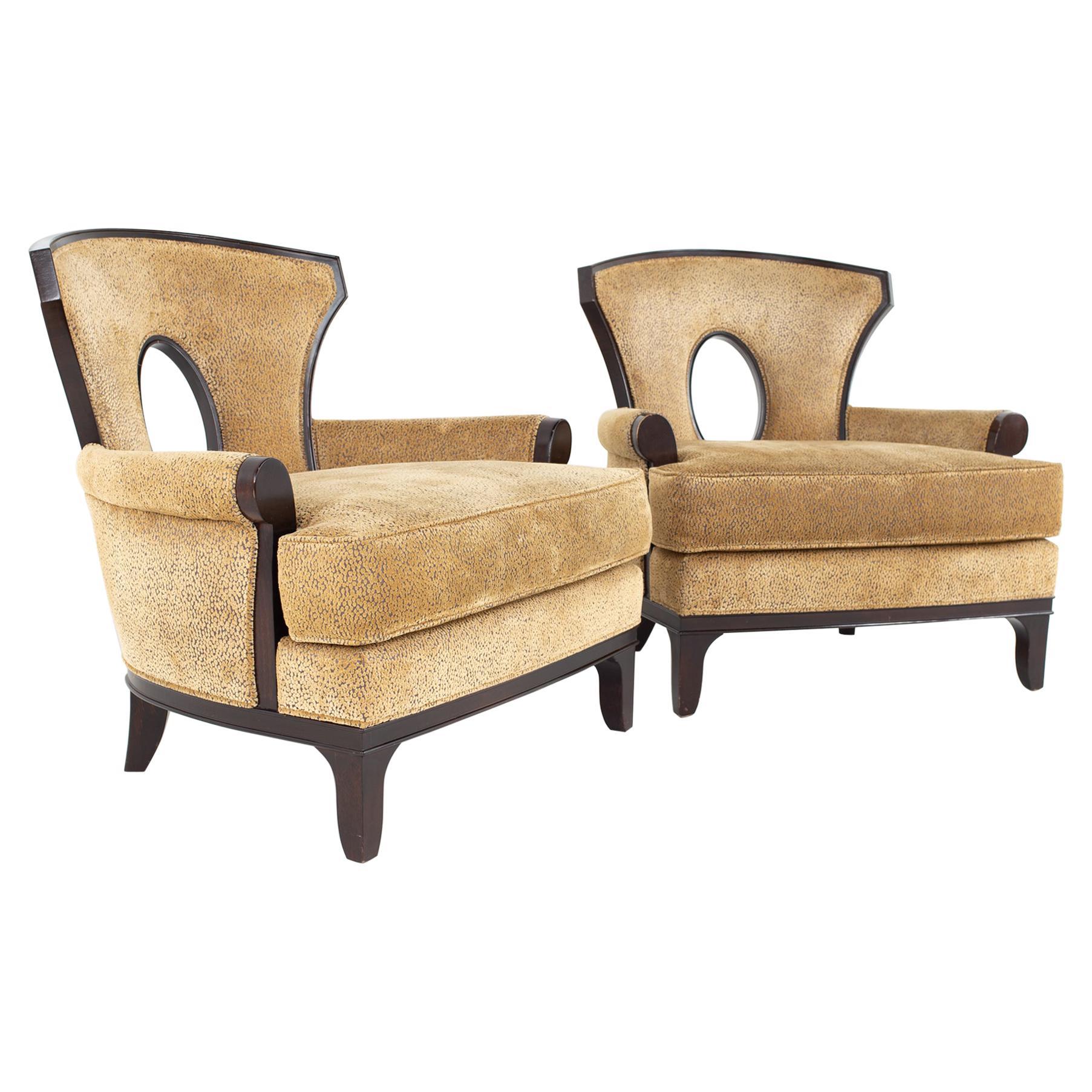 Barbara Barry for Henredon Modern Lounge Chair, a Pair