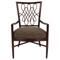 Barbara Barry for McGuire Rattan or Wicker Arm Desk, Dining or Occasional Chair
