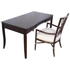 Barbara Barry for McGuire Writing Desk and Chair, Newly Refinished