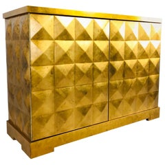 Barbara Barry Gold Leaf Diamond Chest by Baker
