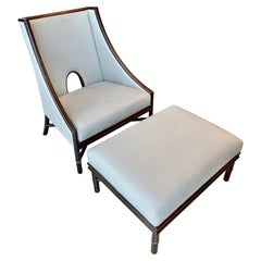 Barbara Barry Lounge Chair and Ottoman