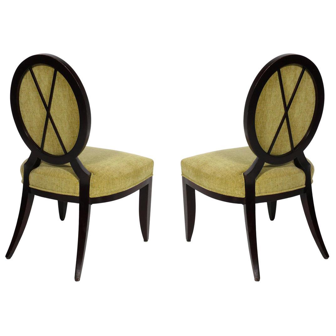 Barbara Barry X Back Slipper Chairs for Baker