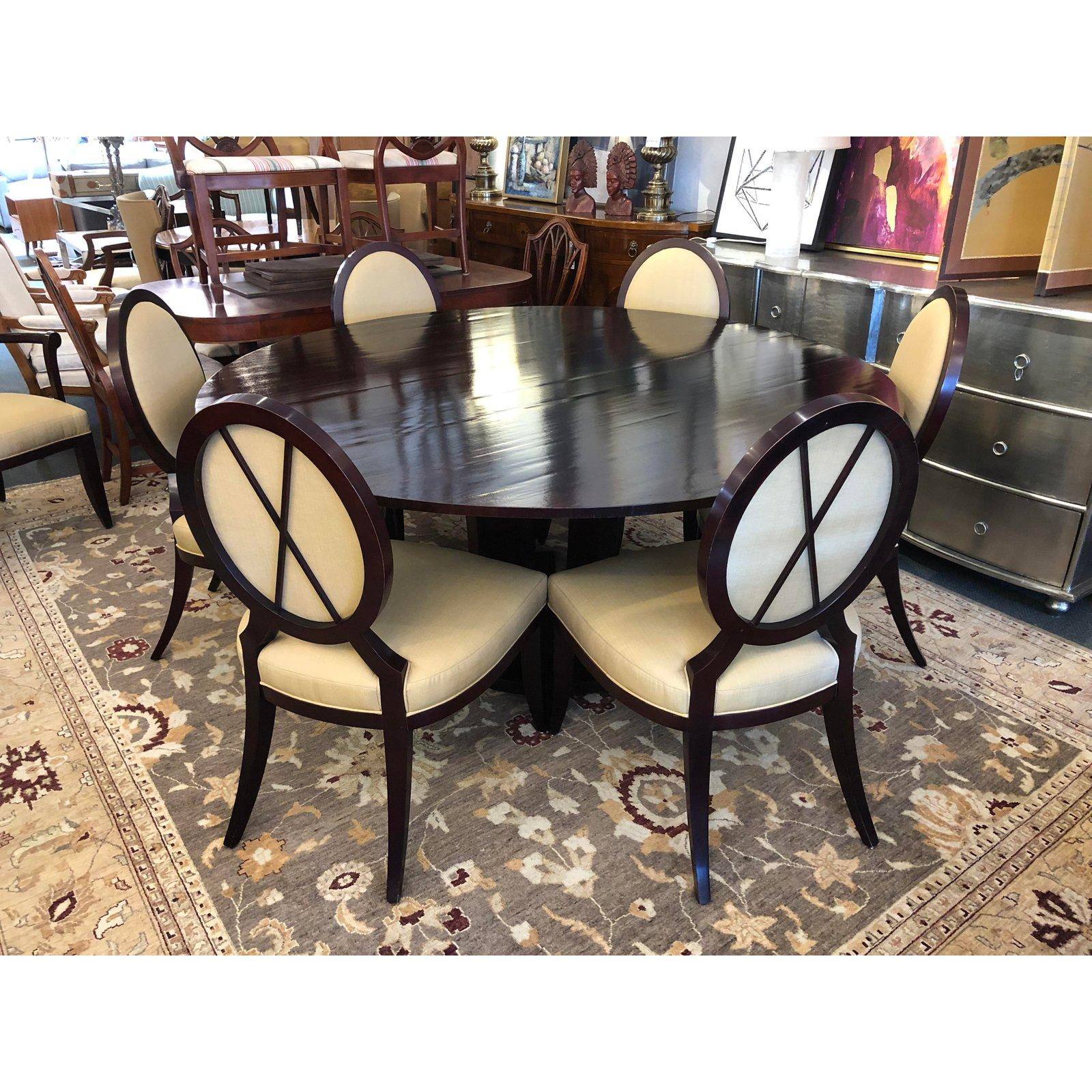 Barbara Barry S Gueridon Dining Table 8 Chairs By Baker Furniture For At 1stdibs