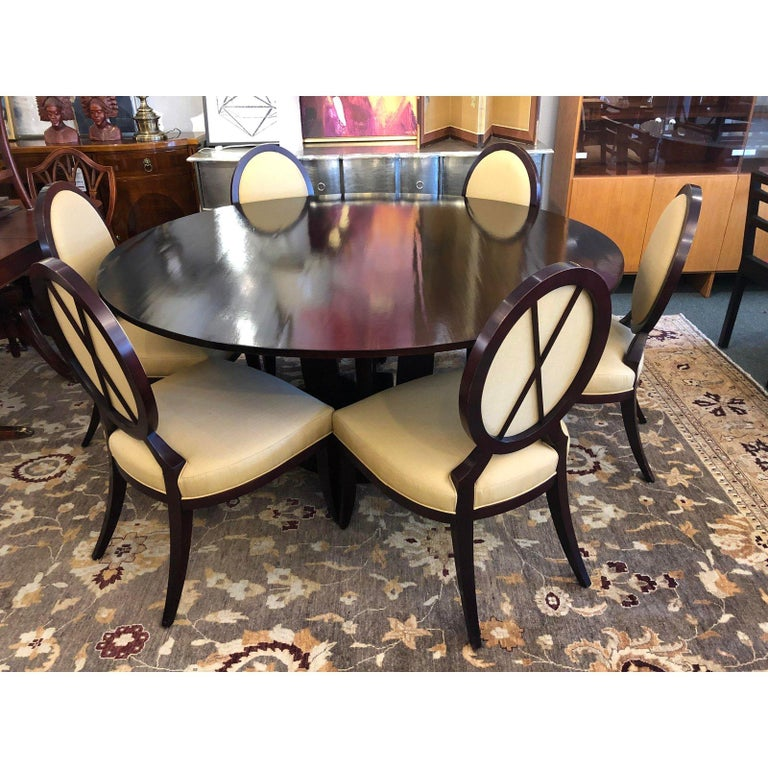 Barbara Barry S Gueridon Dining Table 8 Chairs By Baker Furniture In Good Condition For