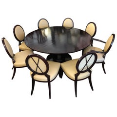 Barbara Barry's Gueridon Dining Table +8 Chairs by Baker Furniture