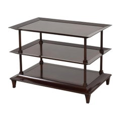 Barbara Berry for Baker Furniture Company, Three-Tiered Mahogany Side End Table