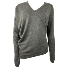 Barbara Bui Grey Cashmere Long Sleeves Pullover Sweater Size S