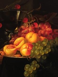 Italian Garden, Still-life, Italian artist, Florence, Realism, Oil Painting.