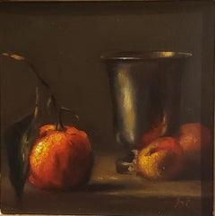 Italian Tabletop ,Still-life, Italian artist, Florence, Realism, Oil Painting.