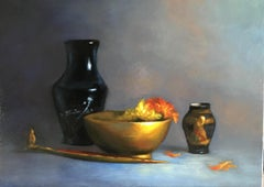 Oriental Bowl , Still-life, Italian artist, Florence, Realism, Oil Painting.