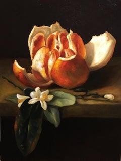 Sliced Orange, Still-life, Italian artist, Florence, Realism, Oil Painting.Frame