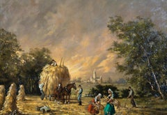 Barbara Gudrun Sibbons (b.1925) - Contemporary Oil, The Harvest