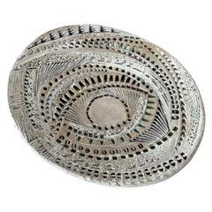 Barbara Haring Studio Pottery Textured Dish