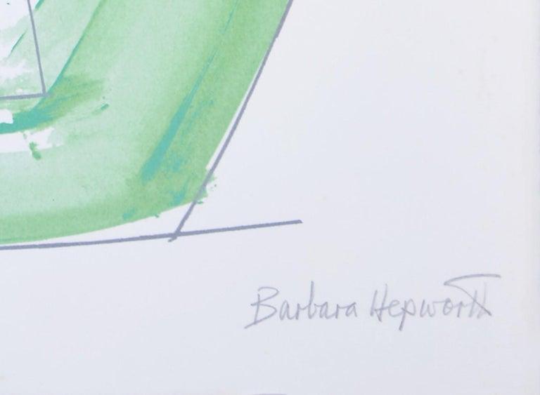 Barbara Hepworth, November Green, 1969-70 - Gray Abstract Print by Barbara Hepworth