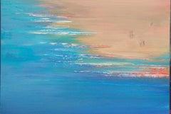 A beach - XXI Century, Contemporary Acrylic Painting, Landscape