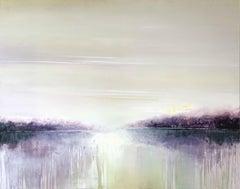 A Lake - XXI Century, Painting, Minimalistic Abstract Landscape