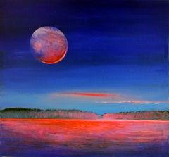 Bright night - XXI Century, Painting, Landscape
