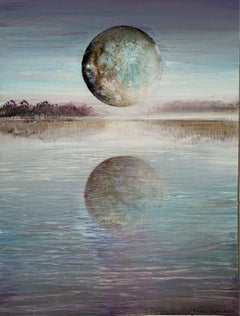 Full moon III - XXI Century, Contemporary Acrylic Painting, Landscape