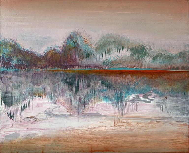 Barbara Hubert Landscape Painting - Landscape III- XXI Century, Contemporary Acrylic Painting, Landscape
