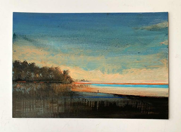 Landscape IV - XXI Century, Contemporary Acrylic Painting, Landscape - Gray Landscape Painting by Barbara Hubert