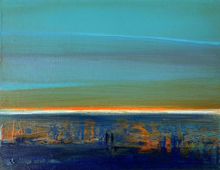 Barbara Hubert Figurative Painting - Landscape IX - XXI Century, Contemporary Acrylic Painting, Landscape