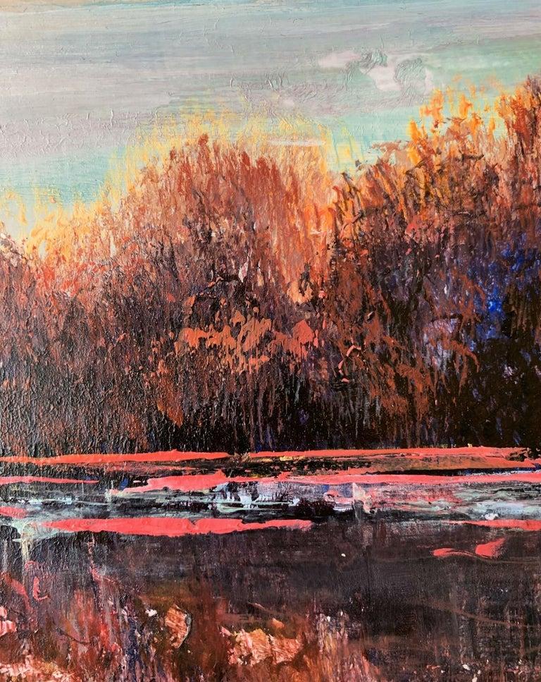 Landscape VIII - XXI Century, Contemporary Acrylic Painting, Landscape For Sale 3
