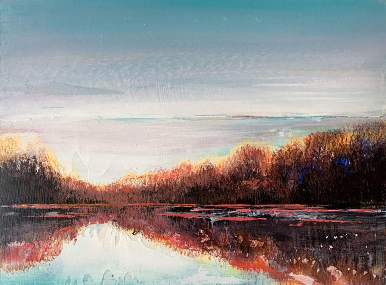 Barbara Hubert Landscape Painting - Landscape VIII - XXI Century, Contemporary Acrylic Painting, Landscape