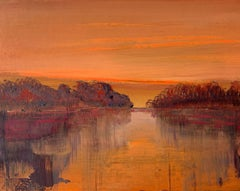 Landscape XI- XXI Century, Contemporary Acrylic Painting, Landscape