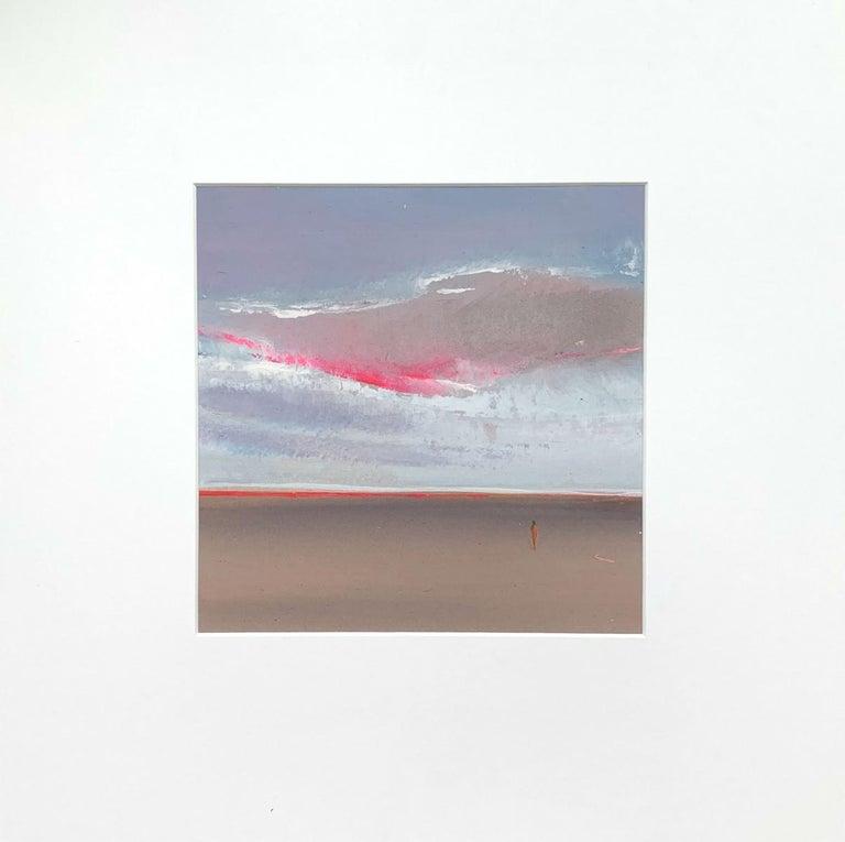 Landscape XIII- XXI Century, Contemporary Acrylic Painting, Landscape - Gray Landscape Painting by Barbara Hubert