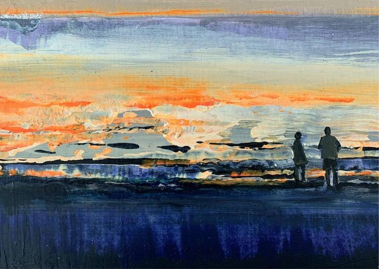 Landscape - XXI Century, Contemporary Acrylic Figurative Painting For Sale 1